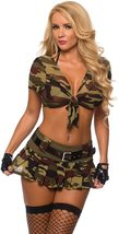Sexy Military Commando 2 Piece Boot Camp Babe Costume Cami Set image 2