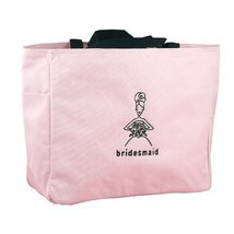 Hortense B. Hewitt Wedding Accessories Pink Bridal Party Tote Bag, Bride... - $30.34