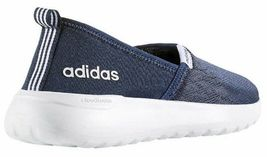 Adidas Women's Blue White CF Lite Racer Cloudfoam Slip On Sneaker Shoes AC8476 image 3