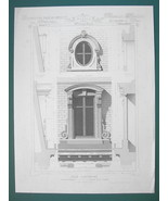 ARCHITECTURE PRINT : PARIS Victorian Resdence at St. Cloud Parttial Facade - $16.87