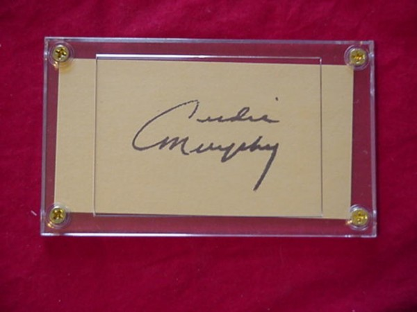 Primary image for AUDIE MURPHY  Autographed Signed Signature Cut w/COA - 30698