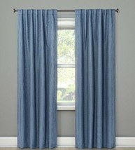 1 Threshold Small Check Blackout Window Curtain  Drape - Blue One Panel 84 x 50 - $21.77