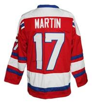 Custom Name # Ottawa Nationals Retro Hockey Jersey New Red Martin #17 Any Size image 2