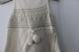 Janie and Jack WINTER FROST Ivory Gold Metallic 2P Knit Dress Tights NWT - $56.06