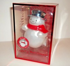 Bath & Body Works Wallflower Diffuser Light-Up Snowman Glows Snowy White - $14.36