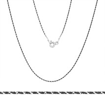 925 Sterling Silver Black Rhodium Plated Snake Solid Link Chain Necklace... - £11.24 GBP+