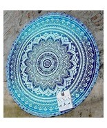 Mandala Beach Tapestry Cotton Round Bohemian Women Towel Yoga Pool Gypsy... - €18,48 EUR
