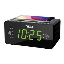 MEGA-NRC-191 Dual Alarm Clock with Qi Wireless Charging Function - $44.53