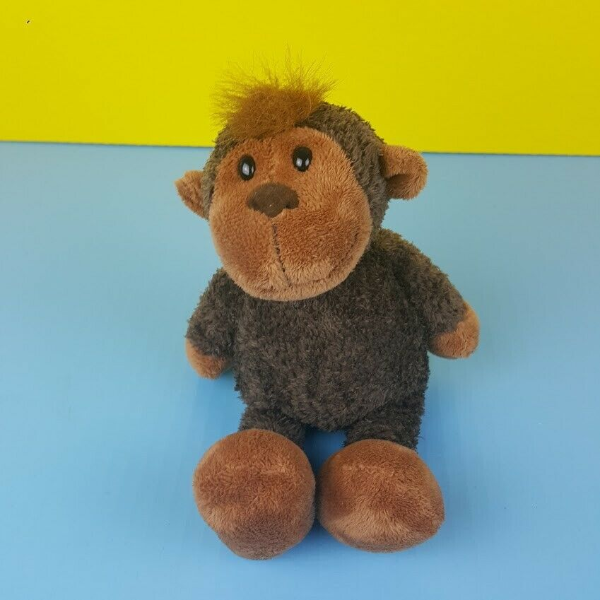 Primary image for Manhattan Toy Plush Brown Monkey Floppy Bean Bag Stuffed Animal Tuft Hair 10""