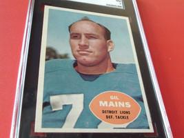 1960   GIL  MAINS   #  49  TOPPS   SGC  84    DETROIT  LIONS    FOOTBALL... - $34.99