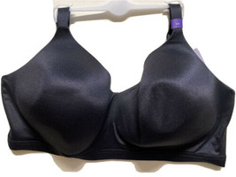 Catherines 52D No-Wire Back-Smoother Black Seamless Bra Women's Plus Siz... - $26.99