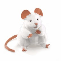 Folkmanis Mouse Hand Puppet, White - $22.71