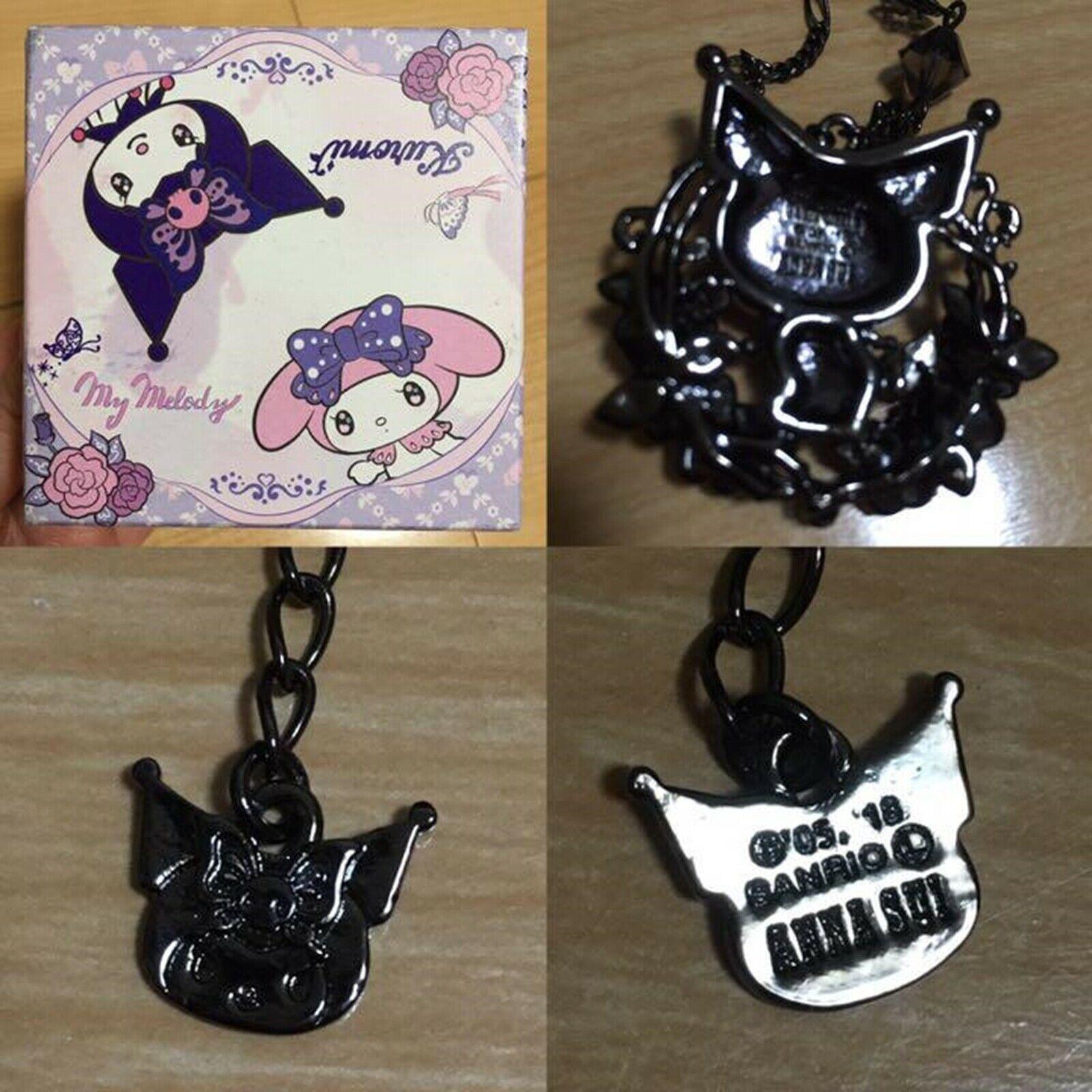 KUROMI × ANNA SUI × LARME Sanrio necklace set Jewelry Gift Japan Free Shipping