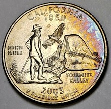 2005-P CALIFORNIA STATE QUARTER LIGHTLY TONED BOTH SIDES MUST HAVE UNCIR... - $22.76
