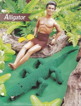 Toy Alligator, Annie's Fashion Doll Plastic Canvas Pattern Club Leaflet ... - $0.99