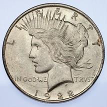 1922-D $1 Peace Dollar Choice BU, Excellent Eye Appeal, Full Mint Lister - $64.34