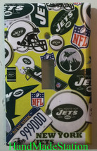 NY New York Jets Light Switch Power Outlet Duplex wall Cover Plate Home Decor image 1