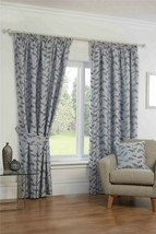 """New Lille Steel 46"""" x 54"""" Pencil Pleat Curtains - $33.72"""