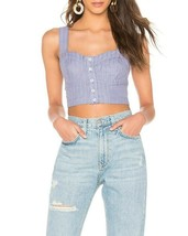 Free People Women Perfectly OB922228 Crop Top Chambray Blue Size XS - $54.60
