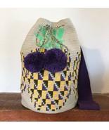 Authentic 100% Wayuu Mochila Colombian Bag Large Size soft colors pineap... - $125.00
