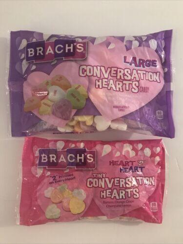 BRACH'S Large & Tiny Heart 2 Heart Conversation Hearts Candy Lot 14oz 7oz - $12.86