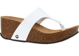 MERRELL Panarea Thong Cork Wedge Sandals BNIB - $51.19