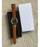 Man's Watch w. leather wristband - in box, unused - $9.80