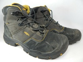 Keen Logandale Size 12 M (D) EU 46 Men's WP Steel Toe Work Boots Black 1017828