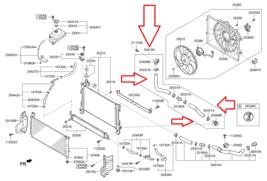 25415-E6000 Lower Radiator Hose Assembly For 2016-2019 Hyundai Sonata Hybrid Oem - $89.05