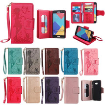 PU Leather Embossing Flip Stand Wallet Case Cover for Samsung A5 2016 A510 - $10.99