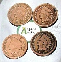 Indian Head Penny 1905, 1906, 1907, and 1908 AA20-CNP2144 Antique image 8