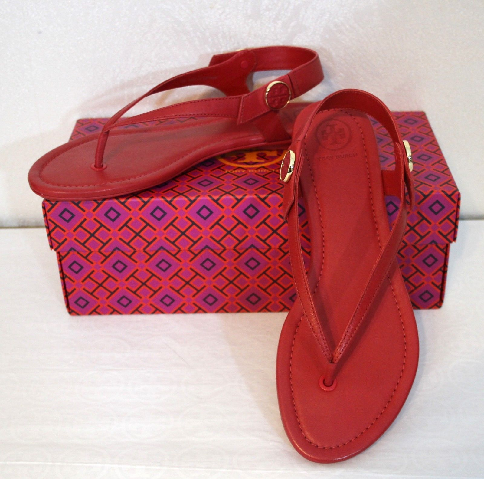 dd8c1272bce4 Tory Burch Minnie Travel Sandal Size 8 Red and 50 similar items. 57