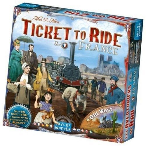 Ticket to Ride: France / Old West [New] Days of Wonder Family Board Game