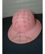 Innovations Headwear Palm Beach FL Pink Straw Hat Plith Safari Adjustabl... - $46.74