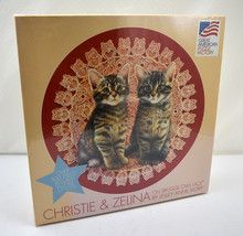 """Christie & Zelina Cats on Brugge Owl Lace Puzzle - 500 Pieces 20.5"""" New Sealed - $23.70"""