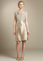 TAHARI ARTHUR S. LEVINE Flap V-Neck Dress Sz 2  NWT $199 - $127.71