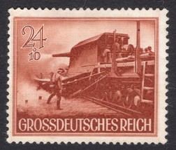 1944 WWII Railway Artillery Germany Postage Stamp Catalog Number B267 MNH