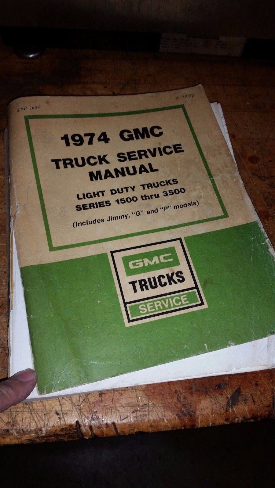 1974 GMC C K 1500 2500 3500 Pickup Truck Service Repair Manual Jimmy G P