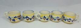 Set of 5 Dipinto a Mano Espresso Tea Cups Mugs ... - $39.55