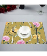 Carnation Flowers Of Maternal Love Dinning Table Mat Placemat 12X18 inch... - $17.00