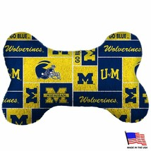 Michigan Wolverines Plush Bone Toy - Large - £9.61 GBP