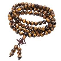 Ayliss 6/8mm 108 Beads Natural Tiger eye Stone Strand Bracelets Bangles ... - $19.64