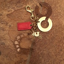 NWOT COACH GOLD Tone Carriage Key Ring Chain FOB Sign C - $50.00
