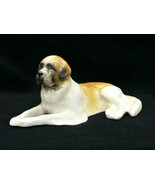 Vintage Scitalis St. Saint Bernard Dog Statue Porcelain China Canine Fig... - $28.00