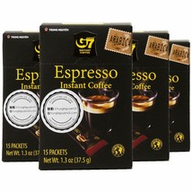 Trung Nguyen - G7 Instant Espresso Coffee – 60 Single Serve Sticks - Pur... - $29.69