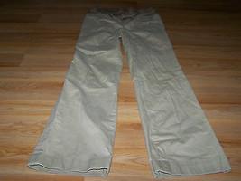 "Gap Maternity Size 2 Regular Tan Khaki Pin Stripe Pants Tummy Panel 30.5"" Inseam - $24.00"