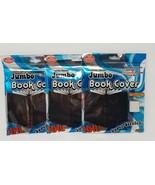 "3 BLACK 10"" X 15"" BOOK COVERS JUMBO XXL PREMIUM EDITION SUPER STRETCH - $3.95"
