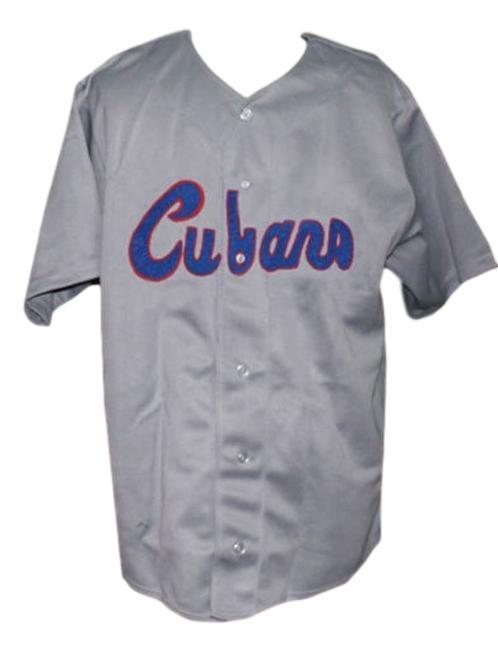 Havana cubans retro baseball jersey 1950 button down grey   1
