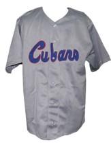 Havana Cubans Retro Baseball Jersey 1950 Button Down Grey Any Size image 1