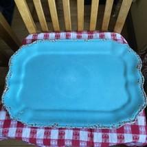 Tommy Bahama Crackle MELAMINE Serving Tray PLATTER Aqua Turquoise Large NWT - $24.75